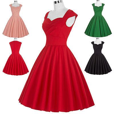 Donna Vintage Retro 40s 50s 60s A Campana Da Sera, Da Festa, Da Ballo Swing 6