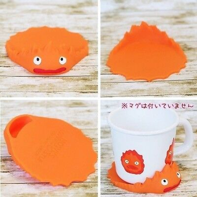 Howl/'s Moving Castle Calcifer Coaster Studio Ghibli from Japan 5521