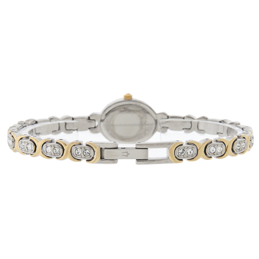 Bulova Women's 98L005 Quartz Silver and Gold Tone Crystal Accents 22mm Watch 4