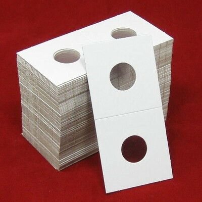 100 Cardboard 2x2 Coin Holder Mylar Flips for Dime 2