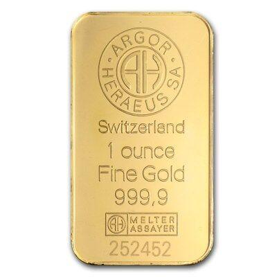 1 oz Gold Bar - Argor-Heraeus - eBay - SKU #82987 3