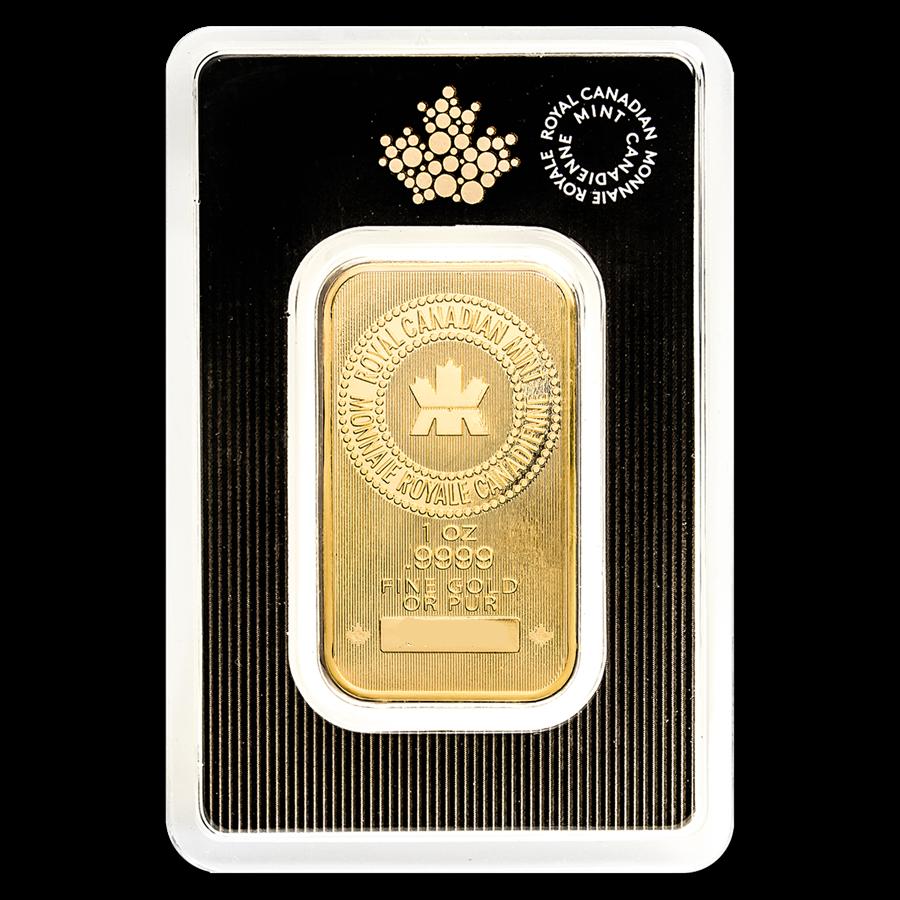 1 oz RCM Royal Canadian Mint Gold Bar .9999 Fine Sealed In Assay 3