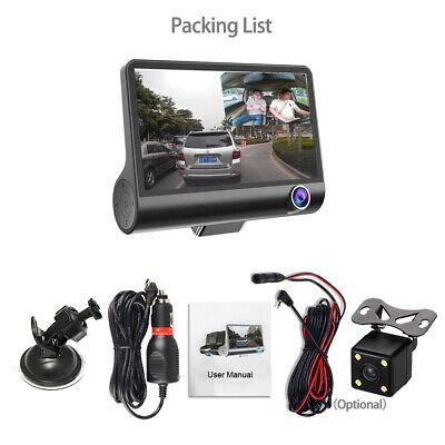 "1080P Car DVR 4""Dual Lens Dash Cam Front and Rear Video Recorder Camera G-sensor 12"