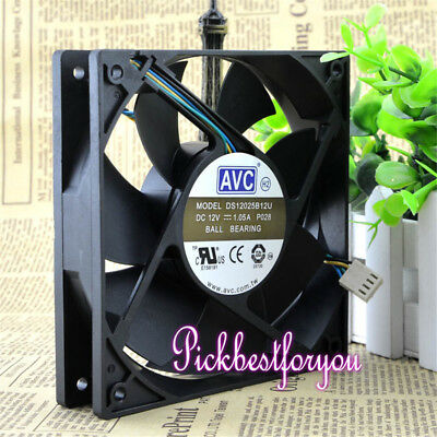 AVC DS12025B12U fan 120*120*25mm 12V 1.05A 4pin #M2864 QL 4