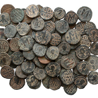Top Quality Of Big Bronze Follis Or Half Follis Byzantine Coins , One Bib 10 Coi 4