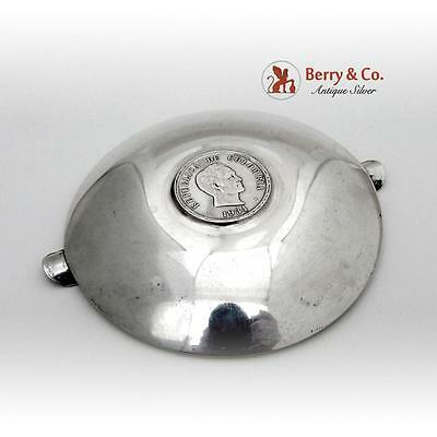 Vintage Columbian Coin Ashtray Sterling Silver 1940 4