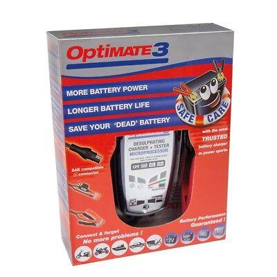 Chargeur Tecmate Optimate 3 TM-430 pour moto de 3 à 50ah nouveau modèle 2