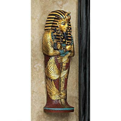 Ancient Egyptian Boy King Tut Sarcophagus Wall Sculpture