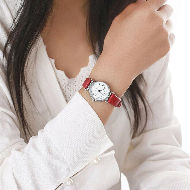 Women's Casual Quartz Leather Band Strap Watch Round Analog Wrist Watch Watches 3
