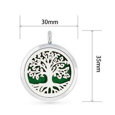 Aroma Diffuser 30mm pendant Necklace Lockets Perfume Essential Oil Aromatherapy 5
