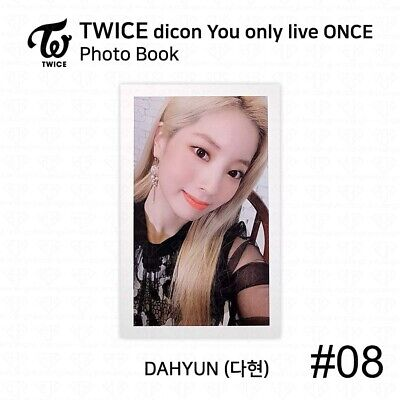 TWICE x dicon You Only Live ONCE Card Photo Book Postcard Dahyun KPOP K-POP 11