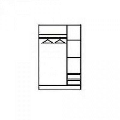 ARMADIO TRE ANTE con cassetti - EUR 190,00 | PicClick IT