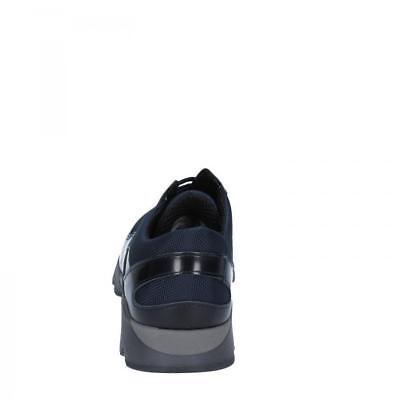 BALDININI SCARPE UOMO sneakers colori nero e blu in pelle e