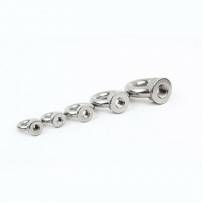 1//2//4//10pc A4 316 Marine Grade Stainless Steel Lifting Eye Nut Bolt M6-M24 New