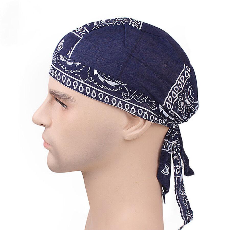 Biker Skull Cap Motorcycle Bandana Printed Head Wrap Du Doo Do Rag Men Hats 4