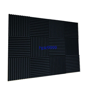 """48 Pack 12"""" X 12"""" X 1""""Acoustic Foam Panel Wedge Studio Soundproofing Wall Tiles 2"""