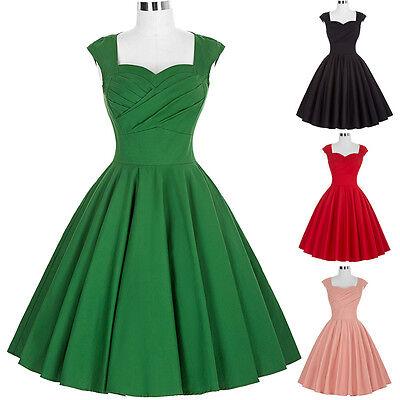 Donna Vintage Retro 40s 50s 60s A Campana Da Sera, Da Festa, Da Ballo Swing 2
