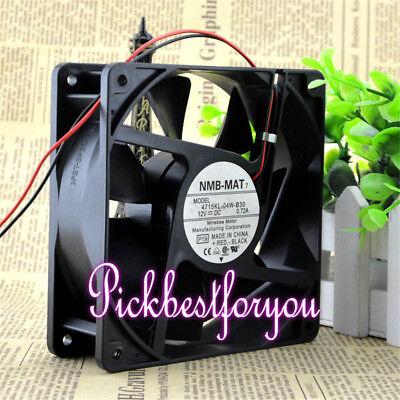 NMB 4715KL-04W-B30 fan 120*120*38mm DC12V 0.72A 2pin #M2077 QL 3
