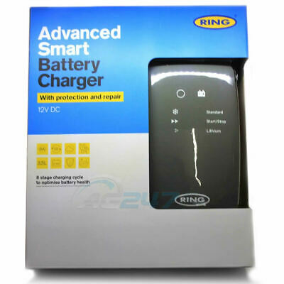 Ring RSC706 12v 6A 8 Stage Start/Stop Car 4x4 Maintenance Smart Battery Charger 5