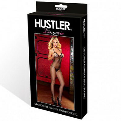 Sexy Bodystocking Aperto Cavallo Rete Nero Crotchless Fishnet Hustler Lingerie 4