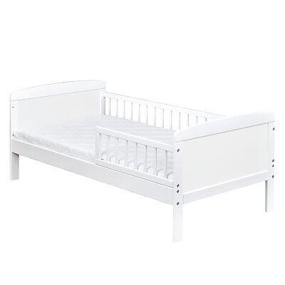 Kinderbett Juniorbett Massivholz in Weiss 140x70cm NEU 3