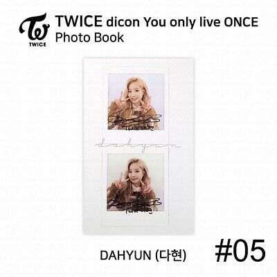 TWICE x dicon You Only Live ONCE Card Photo Book Postcard Dahyun KPOP K-POP 8