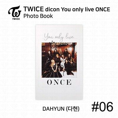 TWICE x dicon You Only Live ONCE Card Photo Book Postcard Dahyun KPOP K-POP 9