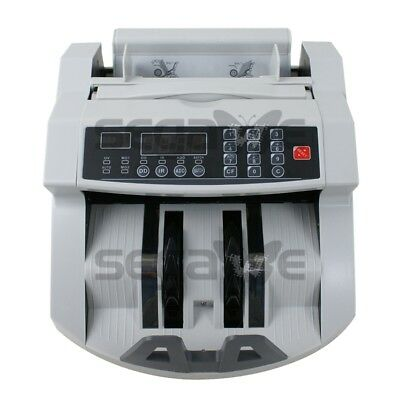 Money Bill Counter Machine Cash Counting Counterfeit Detector UV MG Bank Checker 6