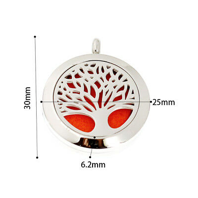 New arrive 1pc Aroma Necklace Stainless Steel Essential Oil Diffuser Locket 25MM