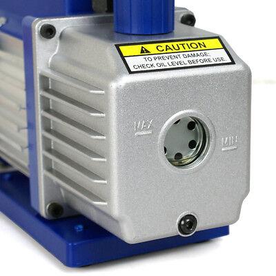3,5 CFM Rotary Vane Vacuum Pump 1/4HP HVAC R134a Air Refrigerant Conditioning 11