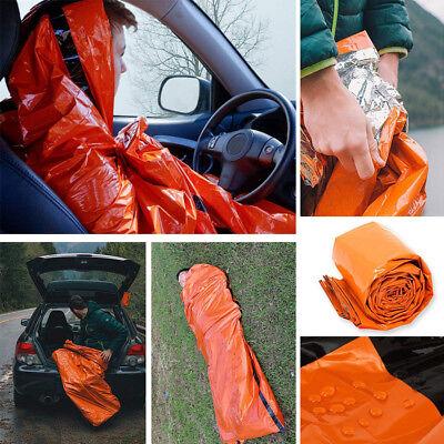 2-Pack Emergency Sleeping Bag Thermal Waterproof Outdoor Survival Camping Bag US 4