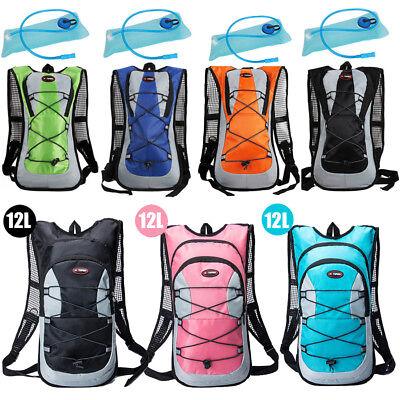 Hiking 12L/5L Bike Bicycle Hydration Pack Backpack Rucksack+2L Water Bladder Bag 2