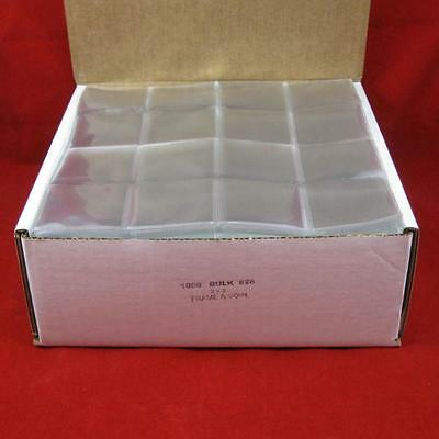 """2/"""" x 2/"""" FAC Non Plasticized Double Pocket Coin Flips Bulk w// Out Inserts 1000"""
