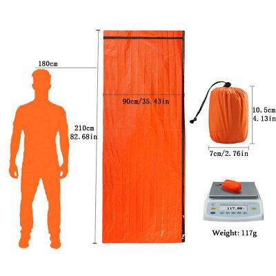 2-Pack Emergency Sleeping Bag Thermal Waterproof Outdoor Survival Camping Bag US 7
