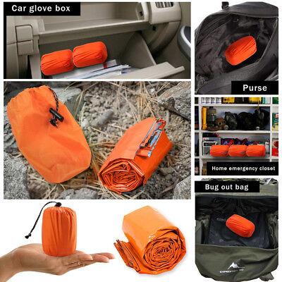 2-Pack Emergency Sleeping Bag Thermal Waterproof Outdoor Survival Camping Bag US 3