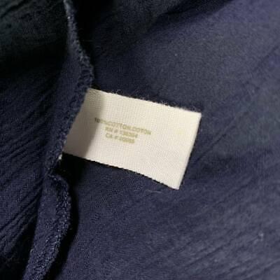 $120 New XL Skin sheer  long 100% cotton shirt top blouse 3 UK XL navy blue 11