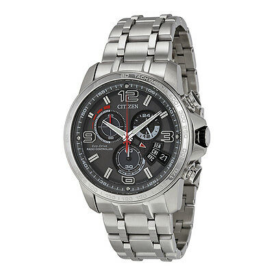 Citizen Eco-Drive Men's A-T Chronograph Alarm Grey Dial 44mm Watch BY0100-51H 2