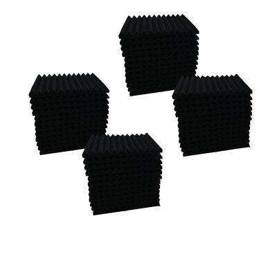 96Pcs1x12x12 Purple/BLACK Acoustic Panels Studio Soundproofing Foam Wedge tiles 3