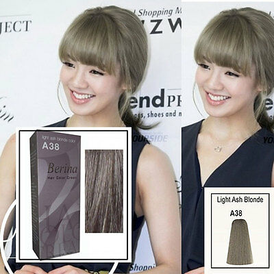 1 Of 4FREE Shipping Berina A38 Light Ash Blonde Color A38 Permanent Hair  Dye Color Cream Free Ship