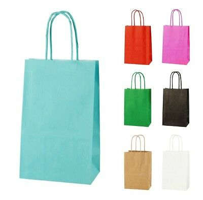 LIGHT BLUE EXTRA SMALL PAPER PARTY BAGS WITH HANDLES GIFT BAGS  LOOT 14x21x8cm 2