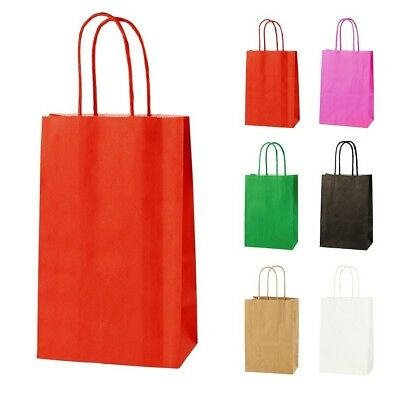 RED EXTRA SMALL PAPER PARTY BAGS WITH HANDLES GIFT BAGS  LOOT 14 x 21 x 8cm 2