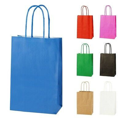 BLUE EXTRA SMALL PAPER PARTY BAGS WITH HANDLES GIFT BAGS  LOOT 14x21x8cm 2