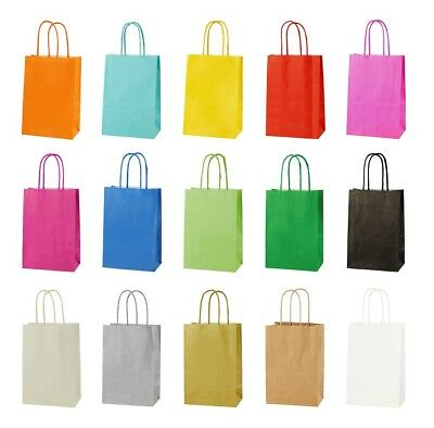 GREEN EXTRA SMALL PAPER PARTY BAGS WITH HANDLES GIFT BAGS  LOOT 14x21x8cm 3
