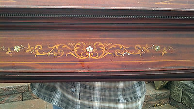 Very nice Inlaid Mother of Pearl Fire place mantle 5