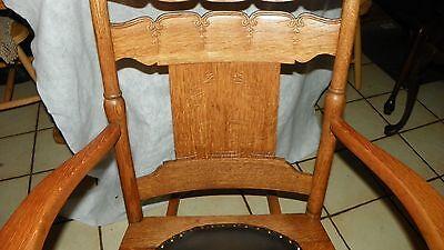Chairs r142 Furniture Carved Quartersawn Oak Rocker Rocking Chair Print Chenille Seat