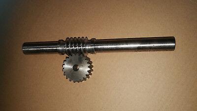 Schneckenwelle Modul 1,5 230mm lang 24 mm Dürchmesser