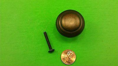 5 Antique Vintage Bronze Round Dresser Drawer Handles/Pulls 10