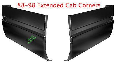 1.2MM Thick! 94 04 S10 4Pc Slip-On Rocker Panel /& Cab Corner GMC Chevy