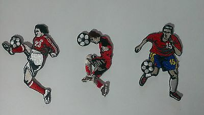 3 x football soccer ball player patch patches child sport boys shirt shorts new