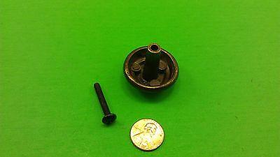 5 Antique Vintage Bronze Round Dresser Drawer Handles/Pulls 5